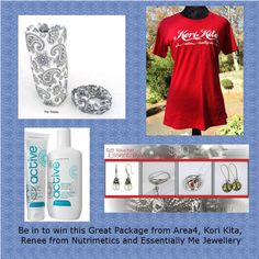 Enter to win: Be in to win this great package which includes a Thir Headwear from Area4, a Kori Kita Tee Shirt, Nutrimetics Active Hand Creme and Body Lotion, and a $30 Voucher from Essentially Me Jewellery | http://www.dango.co.nz/s.php?u=LohBIFby1830