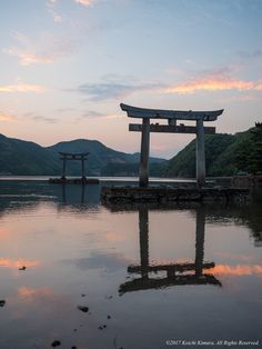 Ebb tide - This place can get closer to the torii as the tide draws. Sunset color clouds are very impressive.