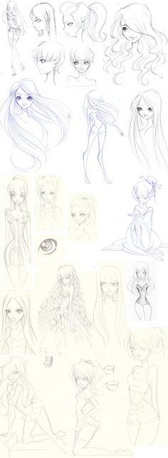 Sketchdump by Nina-D-Lux.deviantart.com on @deviantART
