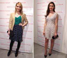Emma Roberts and Emmy Rossum's Heart-Print Playoff: Teen Vogue Daily | TeenVogue.com