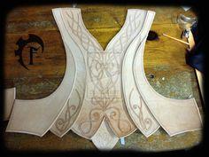 Elf leather armor WIP by Feral-Workshop.deviantart.com on @deviantART