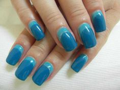 Turchese e blu French reverse