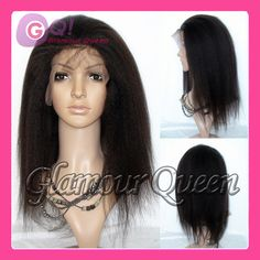 2014 Free Shipping 100% Virgin Italian Yaki Glueless Full Lace Wigs&lace Front Human Hair Wig On Sale With Baby Natural Hairline