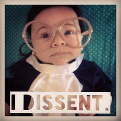 the cutest Halloween costume this year is baby Ruth Bader Ginsburg.