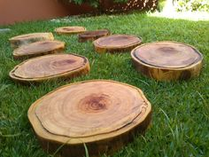 Stepping Stones, Wood, Garden, Outdoor Decor, Home Decor, Woodworking, Stair Risers, Garten, Decoration Home