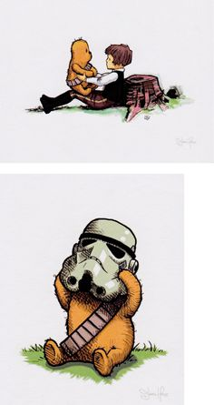 Set of 2 Wookiee-the-Chew prints by James Hance, both 8X10 and signed (Set B)