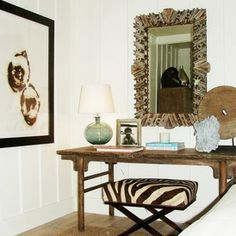 contemporary bedroom by Brian Watford ID - contemporary stool under traditional side board
