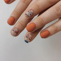 We have collected 48 coolest short nail ideas and designs for you. They are simple and complicated,It's on you to pick. Halloween Acrylic Nails, Fall Acrylic Nails, Picasso Nails, Nagellack Trends, Modern Nails, Fire Nails, Funky Nails, Minimalist Nails, Dream Nails