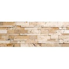 Philadelphia Wall Cladding Random Sized Cubic Travertine Honed Mosaic in Beige and Grey