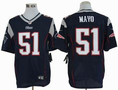 2012 nike New England Patriots #51 Jerod Mayo blue elite jerseys $ 22.5