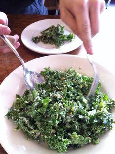 Delicious kale salad at Barbuto NYC