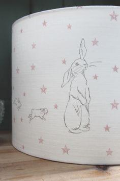 Bunny Star Lamp Shade Lamp Shades, Cotton Linen, Floor Lamp, Star Lamp, Bunny, Stars, Fabric, Prints, Handmade