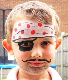 Free Face Painting Instructions | images of pirate face painting and monster paint wallpaper