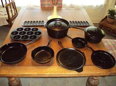 I'd like my cast iron pots and pans to cook with