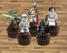 Star Wars cupcake toppers * Star Wars Party Birthday, Star Wars party