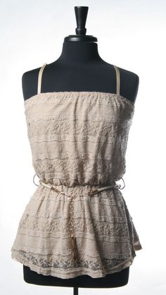 <3 Lace  Belted Lace Cami Top