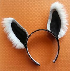 Lemur Ears! Part of a costume I made for a school play. I'll post the body of the costume as soon as its hemmed! :-)