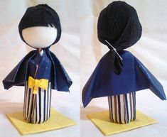 3D Origami Kid Prize Doll - Boy in Blue by mihijime.deviantart.com on @deviantART