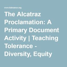 The Alcatraz Proclamation activity