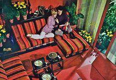 Better Homes & Gardens, living room design, early 1970s