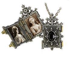 Gothic Anhänger zum öffnen mit Kette Amulett Neo Viktorianisch ALCHEMY P341   eBay