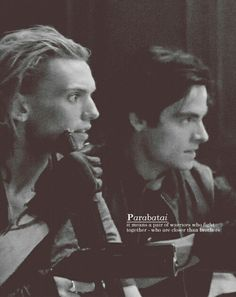 Alec Lightwood and Jace Wayland.....Parabatai forever and always.