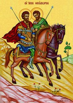 άγιος Θεόδωρος Byzantine Icons, Orthodox Icons, Christian Art, Religious Art, Ikon, Christianity, Spiderman, Georgia, Saints