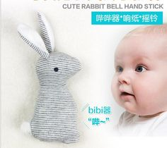 HOT super cheap rattle but HIgh quality Mamas Papas baby rattle infant BB toys rattle Lovely baby Stuffed rabbit BB toy