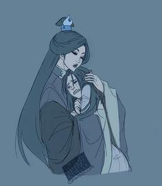 Fan Art of Azula and Ursa. I don't like Azula but this is sad.