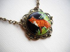 A beautiful necklace for the little fox.
