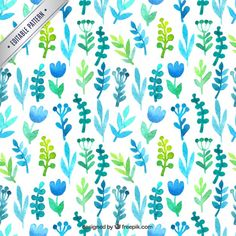 Hand painted floral pattern Free Vector