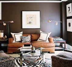 Camel / Caramel Leather Goodness | 2015 Interior Design Ideas