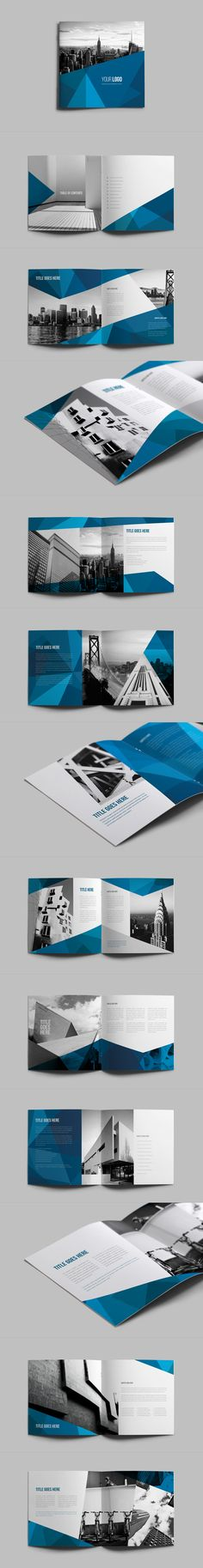 Square Abstract Architecture Brochure on Behance