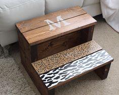Handmade wooden step stool meditation stool bench | Etsy Meditation Stool, Wooden Steps, Stair Treads, Stack Of Books, Sell On Etsy, Handmade Wooden, Decorative Boxes, Bench, Home Decor