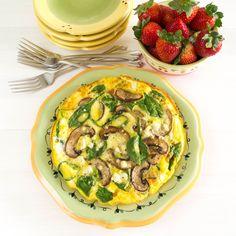 12. Spinach, Mushroom and Feta Frittata