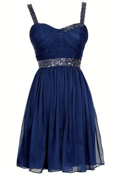 Sparkle and Shine Chiffon Designer Dress by Minuet in Royal Blue    www.lilyboutique.com