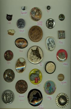 For my Gran, who loves buttons and cats (: