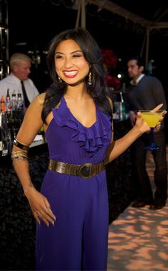 Trendy Tuesday: Getting some Wearapy with Jeannie Mai - Jeannie Mai, Girls Night Out, Blue Hair, New Look, Fashion Forward, Jumpsuits, What To Wear, Cool Outfits, Celebs