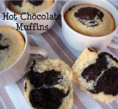 Hot Chocolate Muffins-the great taste of your favorite winter drink in a muffin!