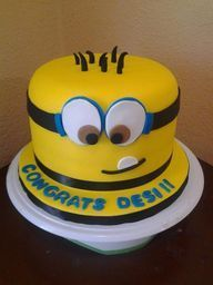 Cute minion birthday cake