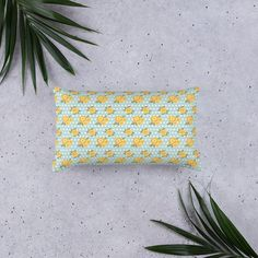 Blue and Yellow Floral Basic Pillow | Etsy  Festival, Season, Chella, Summer, 2019, Spring, Floral, Ultra, Girl, Woman, Power, Beauty, Grande, Impala, Performance, Rapper, EDM, Music, Rave, event, Indio, Palm Springs, Los Angeles, New York, Miami, Idaho, Vermont, Asbury, Treasure Island, Coachella, House, seven, Radio, Country, Sonoma, bellwether, pitchfork, outlaw, levitate, forbidden, overtown, firefly, Chicago, Beale, Austin