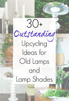 Vintage lamps and old lamp shades are all over the thrift store shelves - but thankfully, there are TONS of amazing upcycling ideas and repurposed projects for them. From makeovers to completely new u Old Lamp Shades, Small Lamp Shades, Painting Lamp Shades, Painting Lamps, Light Shades, Antique Floor Lamps, Old Lamps, Fur Vintage, Vintage Diy