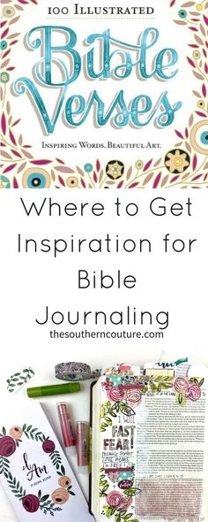 """Once you discover journaling and you want to dive in, the next part is finding where to get inspiration for Bible journaling. Today we are going to explore ways to gain ideas for our next entries as Part 3 of """"All About the Bible Journaling"""" Series."""