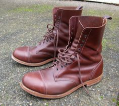 Visit www. for Custom Motorcycle Apparel and Merchandise from Aa. Vintage Boots, Vintage Leather, Mens Boots Fashion, Cycling Shoes, Motorcycle Outfit, Gentleman Style, Leather Boots, Combat Boots, Shoe Boots