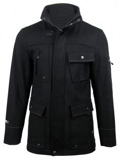 6f143efed Mens Dissident 'Avalon' Wool Rich Military Style Jacket/ Coat: Amazon.co