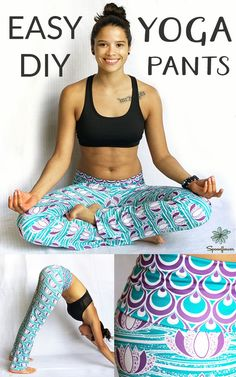 Sport Lycra is great for making leggings and yoga pants because it's stretchy, soft, and moisture wicking.  Click to see the easy steps to making your very own custom yoga pants or leggings.