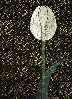 NOGUCHI Takuro(野口 啄郎 Japanese, b.1975) 夜空とチューリップ 2006 Hakuga(Lacquer, Soil, Gold/Silver/Platinum foil, Charcoal, Resin on Wood panel) I am permitted to post his works here. If you reblog this, please do not remove the credit above. Thank you.