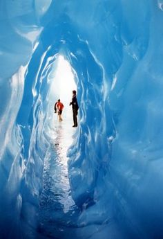 Blue Cave, Fox Glacier, New Zealand