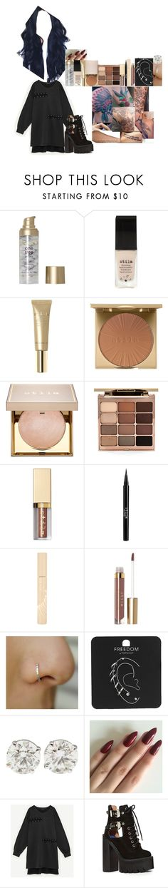 """""""Full face of stila video // 19 January 2017"""" by fuckmeirwin ❤ liked on Polyvore featuring Stila, Topshop and Jeffrey Campbell"""