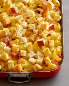 Gruyère Macaroni and Cheese Casserole with Ham and Sourdough - TCL